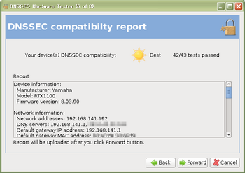 DNSSEC compatibilty report(RTX1100 Rev.8.03.90)その1